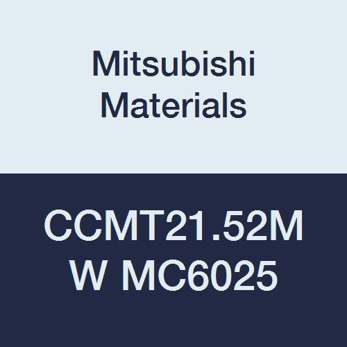 Mitsubishi Materials CCMT21.52MW MC6025 CVD Coated Carbide CC TYPE Positive Turning Insert with Hole, Rhombic 80°, 0.25'' IC, 0.094'' T, 0.031'' Corner Radius, MW Breaker with Wiper (Pack of 10) by Mitsubishi Materials