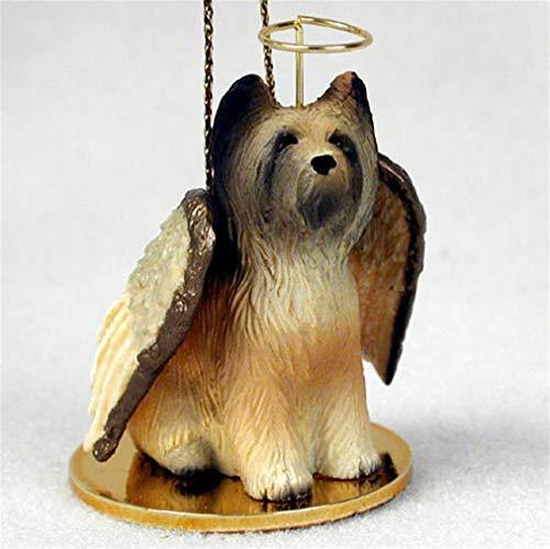 - YesKela Briard Ornament Angel Figurine Hand Painted
