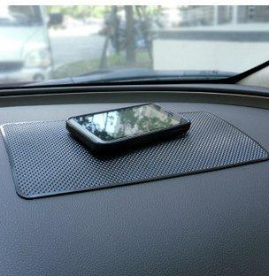 Romote per cellulare e chiavi nero Tappetino antiscivolo in PVC per cruscotto auto