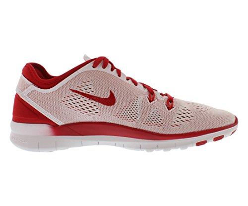 Nike Womens Free 5.0 Tr Passe Fem Trening Sko Hvit / Gym Rød