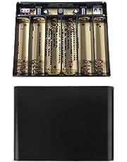 JIACUO USB 5 V 2 A DC 12 V 10 A utgång 6 x 1 8650 batterier DIY Power Bank Box Laddare för Cellph WiFi Router Ljus Säkerhetskamera och mer