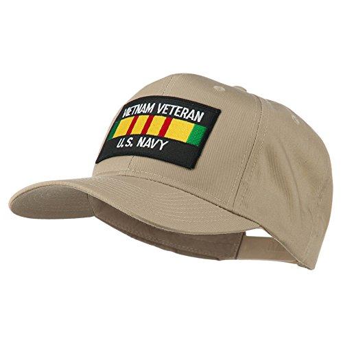 Navy Khaki Us (US Navy Vietnam Veteran Patched Cap - Khaki OSFM)
