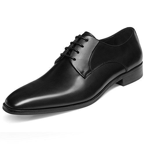 GIFENNSE Men's Leather Oxford Dress Shoes Formal Lace Up Modern Shoes(11US/Black