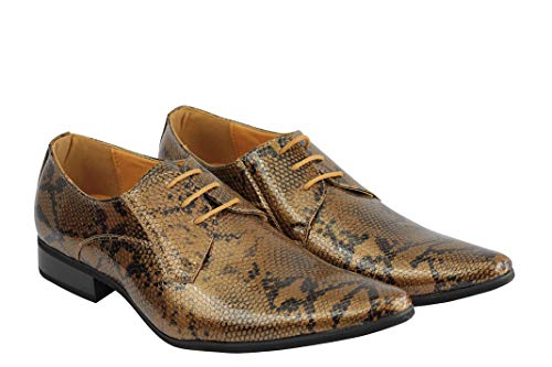 London Scarpe Uomo Stringate Xposed Gold Adg4AW