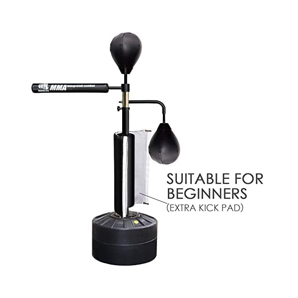 MMA Boxing Focus Trainer Punching Bag Spinning Bar Focus Bags with Heavy Duty Base