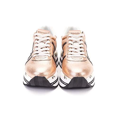 Beth3642 Mujer Premiata Zapatillas Bronce Cuero 00pxnO7