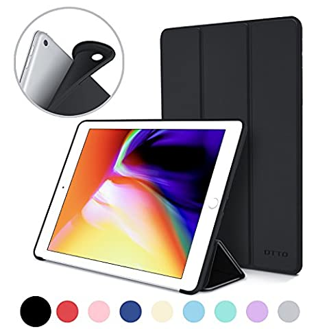 New iPad 2017 iPad 9.7 Inch Case, DTTO Ultra Slim Lightweight Smart Case Trifold Cover Stand with Flexible Soft TPU Back Cover for iPad Apple New iPad 9.7-inch [Auto Sleep/Wake] - - Cases and Covers