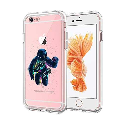Eel Skin Cell Phone Case - YOKIRIN iPhone 6/6S Astronauts and Eels Case Clear Slim Fit Anti Scratch Resistant UV Printing Cover Case for iPhone 6/6S