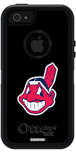 Coveroo Defender Series Case for iPhone 5s/5 - Retail Packaging - Cleveland Indians - Mascot (Iphone 5s Cleveland Indians Case)
