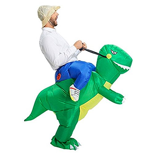 2 Person Animal Halloween Costumes (BlueSpace Inflatable Costumes Hallowenn Cosplay Costumes Gaint Dinasour Suit for Audlts and Kids,L)