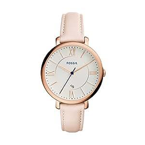 Fossil Women's ES3988 Jacqueline Blush Leather Strap Watch
