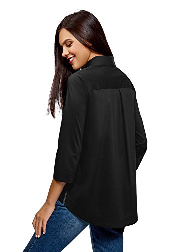 Ultra Femme 2900n Asymtrique Ourlet Chemise Noir Ample oodji qgSw5dq