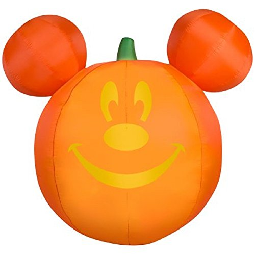 Halloween Inflatable Airblown Mickey Mouse Pumpkin Jack-O-Lantern 5' (Mickey Mouse Inflatable Halloween)