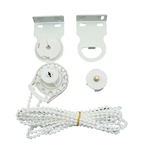 VORCOOL Curtain Roller Chain Roller Shade Blind Beaded Chain Cord Clutch Metal Core Blinds Connectors Blinds Connector (White)