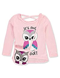 Star Ride Girls' Glittery L/S Top with Flip Sequin Purse