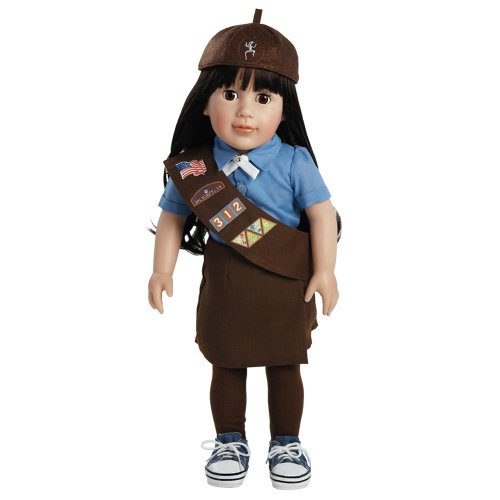 Scout Girl Brownie Costume - Adora Play Doll Abigail - Girl Scout Brownie 18