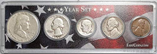 - 1953 Various Mint Marks Birth Year Set in Protective Snaplock Holder $1 Seller Very Good