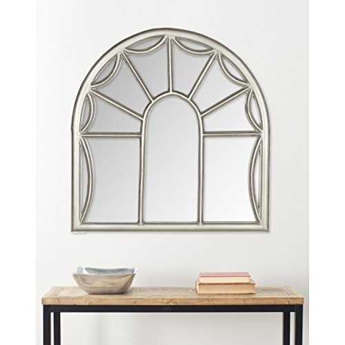 Glass Pewter Mirror - Safavieh Home Collection Palladian Mirror, Pewter