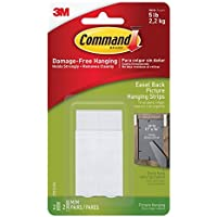 Large Easel-Backed Picture Hanging Strips, 2-sets of Medium Picture Hanging Strips and 2-Spacers by Command