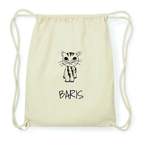 JOllipets BARIS Hipster Turnbeutel Tasche Rucksack aus Baumwolle Design: Katze aYH3lbfXi