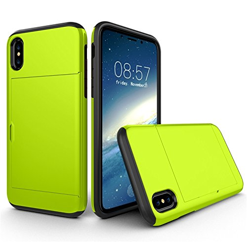 DHFHER Slim Armor CS iPhone X Case with Slim Dual Layer Wallet Design and Card Slot Holder for Apple iPhone - Donald Pendants Disney