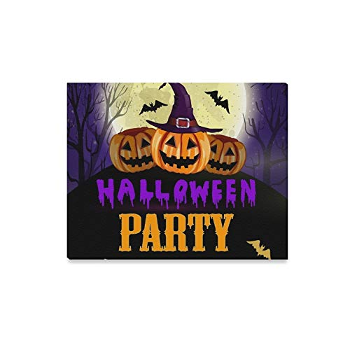 Wall Art Painting Halloween Party Flyer Pumpkins Prints
