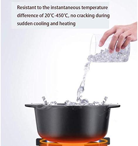 LIUSHI Plaques de Casserole avec Couvercle Casserole - Accumulation de Chaleur, économie d'énergie et durabilité