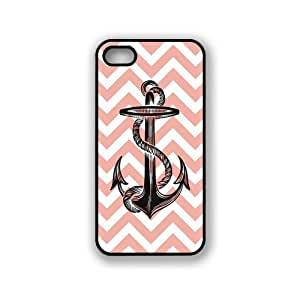 Anchor On Coral Chevron iPhone 5 & 5S Case - Fits iPhone 5 & 5S