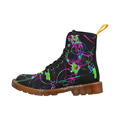 Leinterest Abstract Neon Fun Martin Botas Zapatos De Moda Para Hombres