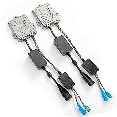 HYB Canbus Slim Digital HID Ballast 55W Error Free Warning Cancel for HID Kit H11 H7 H8 H9 H4 H1 9005 9006 Universal Fit(Pack of 2): Automotive