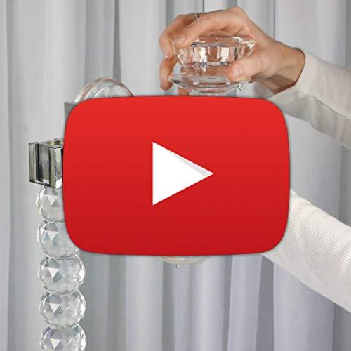 Efavormart 39'' Tall Handcrafted 5 Arm Crystal Glass Candelabra by Efavormart.com (Image #8)