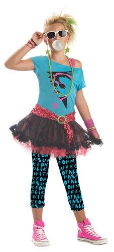 Tween 80's Valley Girl Halloween Costume Small 6-8