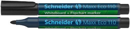 Schneider Maxx 110 Board- /Flipchartmarker (Cap-Off-Ink, nachfüllbar, 1 - 3 mm) 10er Packung schwarz
