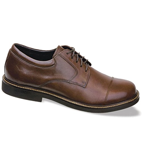(Apex Men's Lexington Cap Toe Oxford Sneaker, Brown, 13 Wide)