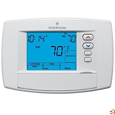 "Emerson 1F95-0671 6"" Universal Programmable Thermostat, Blue"