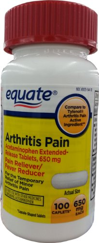 Equate Arthritis Pain Caplets 100ct 650mg, Compare to Tyleno