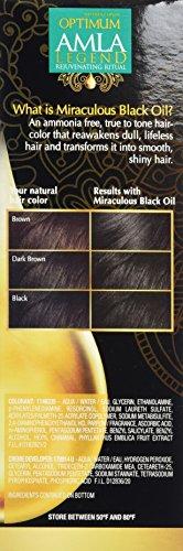 Optimum Care Amla Legend Miraculous Black Oil Dull Defying Haircolor Natural Black