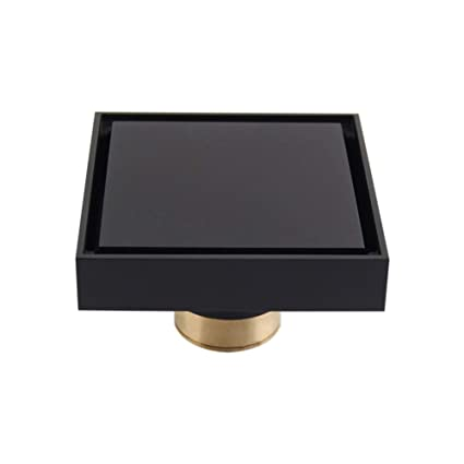 Solid Brass Square Shower Floor Drain With Tile Insert Grate