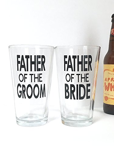 Party Stein Groom (Father of the Bride and Groom Beer Glass - Gift Set of 2)