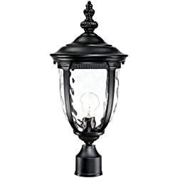 "Bellagio 21"" High Texturized Black Outdoor Post Light"