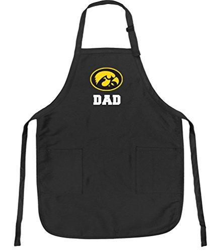 Broad Bay University of Iowa Dad Aprons Iowa Hawkeyes Dad w/Pockets Grilling Gift Him Men