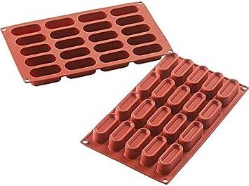 20 cavidad rectangular silicona para horno Molde de postre by Mister Chef: Amazon.es: Hogar