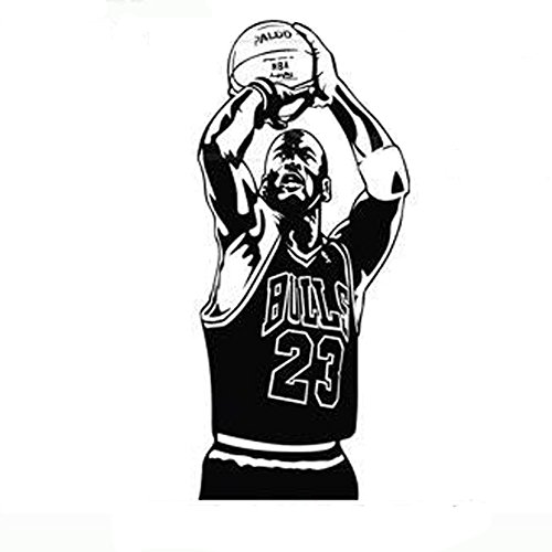 Fangeplus R DIY Removable Jordan NBA Basketball Star Sports Athlete Art Mural Vinyl Waterproof Wall Stickers Kids Room Decor Nursery Decal Sticker Wallpaper15.3