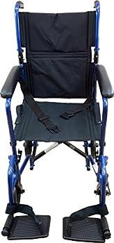 Roscoe Medical Kta1916sa-bl Aluminum Transport Wheelchair, Blue 4