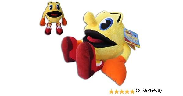 Pac Man 27cm Suave Peluche Pac-Man Aventuras Fantasmales Dibujos ...