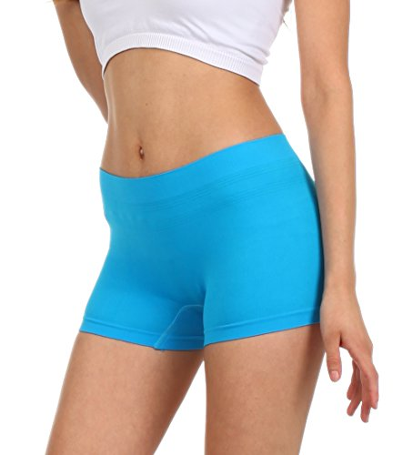 144eb34fd4a Sakkas BS0210PL Women s Seamless Stretch Panties   Boy Shorts - Assorted  Color 6 Pack - Solid - One Size - Buy Online in UAE.