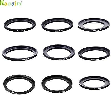 10pcs 40.5-62 43-52 43-55 43-58 46-52 46-55 46-58 49-55 49-58 49-62mm Metal Step Up Rings Lens Adapter Filter Set 43-52mm ND UV CPL Filter
