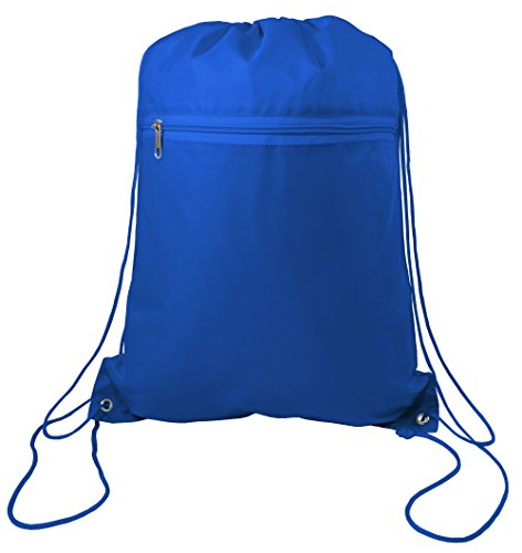 Zippered Drawstring Bag Cinch Sack Promotional Backpack Gym Travel Hike 12 Pack - Custom Team Swimsuits