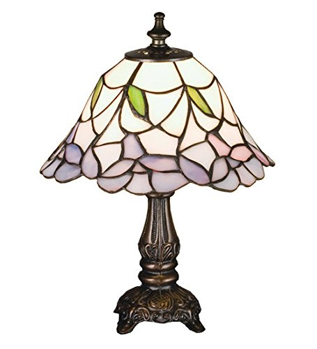 Tiffany Style Stained Glass Daffodil Bell Mini Table Lamp