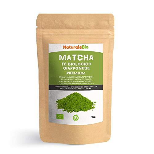 Te Verde Matcha Organico Japones En Polvo [ Calidad Premium ] 50g Matcha Biologico Cultivado En Japon, Uji, Kyoto Te Bio Grado Premium Matcha Ecologico Ideal Para Beber, En a Cocina Y Con Latte